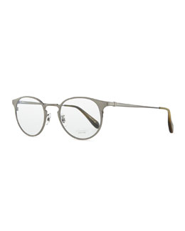 Men's Wildman Round Fashion Glasses, Pewter