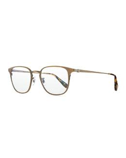Pressman Square Titanium Fashion Glasses, Aged Gold