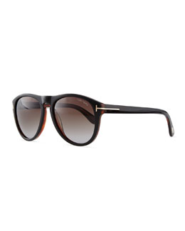 Kurt Acetate Aviator Sunglasses, Black