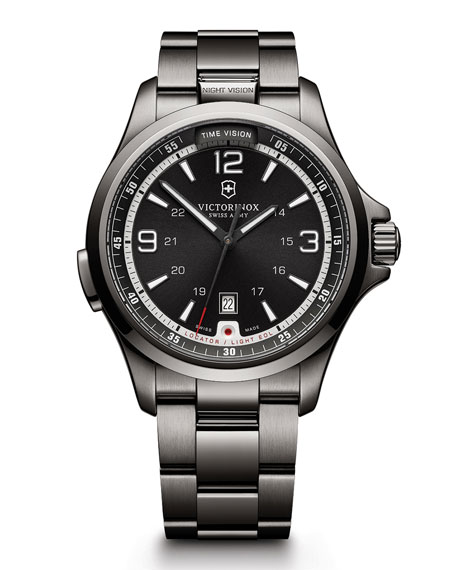 Night Vision LED Watch, Silver