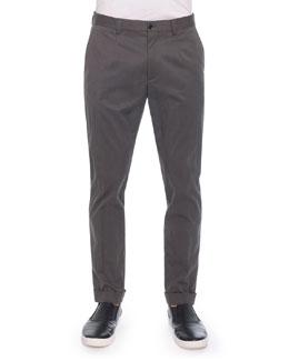 Gabardine Trousers, Olive