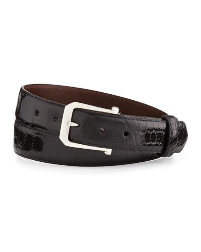 Custom Glazed Alligator Belt with