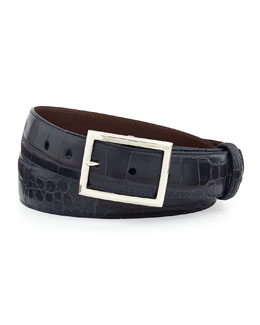 Matte Alligator Belt with