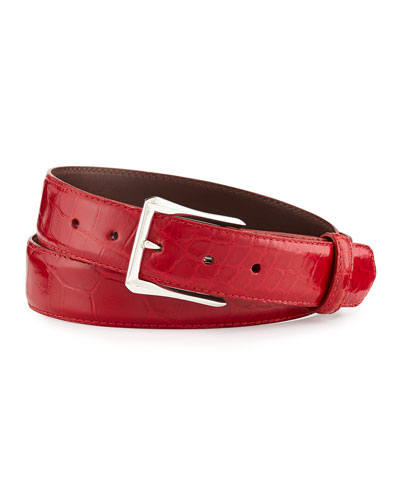 Glazed Alligator Belt with