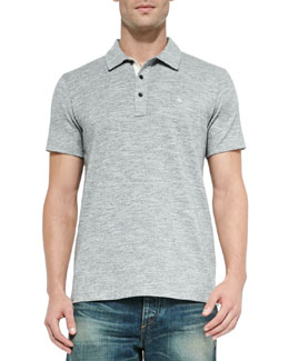 Standard Issue Short-Sleeve Polo, Gray