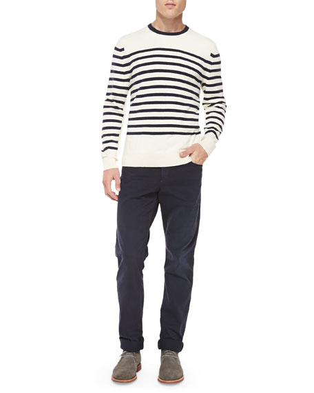 Five-Pocket Relaxed Trousers, Navy