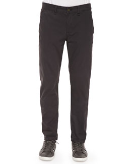 Four-Pocket Relaxed Trousers, Charcoal