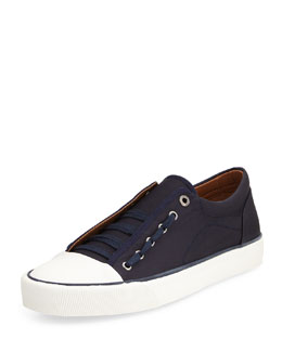 Twill Lace-Up Sneaker, Navy