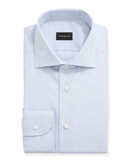 Textured Oxford Dress Shirt, Blue