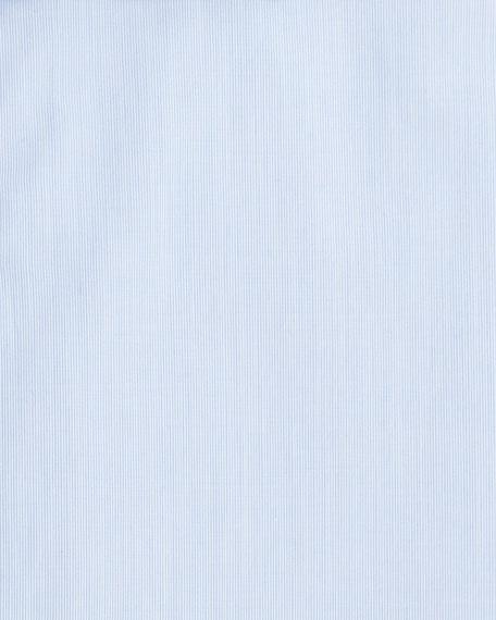 Solid Woven Dress Shirt, Basic Blue