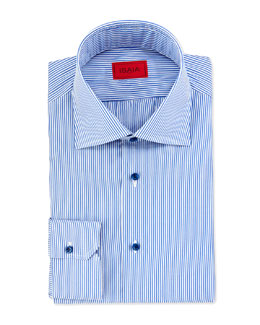 Mini-Bengal Stripe Dress Shirt, Blue/White
