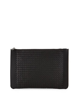 Slim Woven Document Case, Black