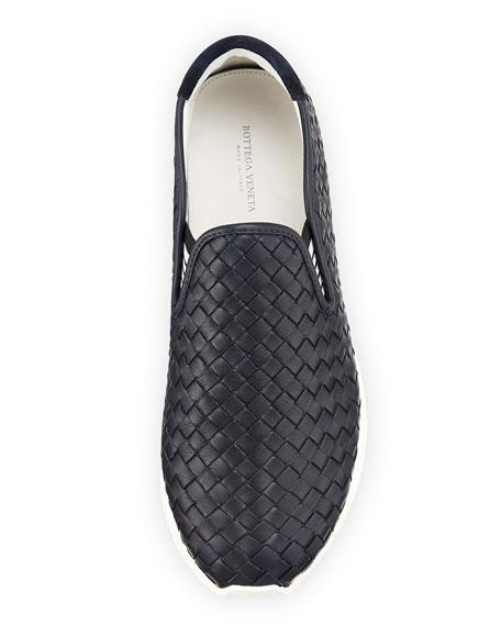 Woven Slip-On Sneaker, Navy
