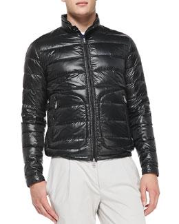 Acorus Puffer Moto Jacket, Black