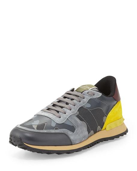 0ec592e13482b Valentino Men's Rockstud Leather Trainer Sneakers