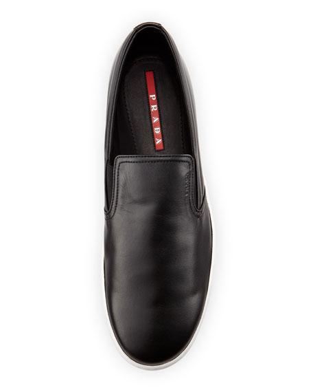 79a134c13353e Prada Leather Slip-On Sneaker