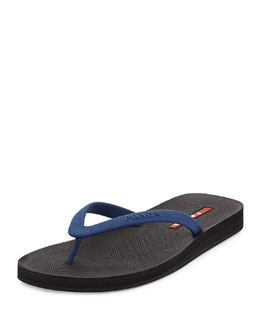 Rubber Flip-Flop, Blue