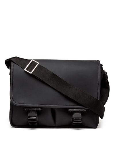Rubber Buckled Flap Messenger Bag