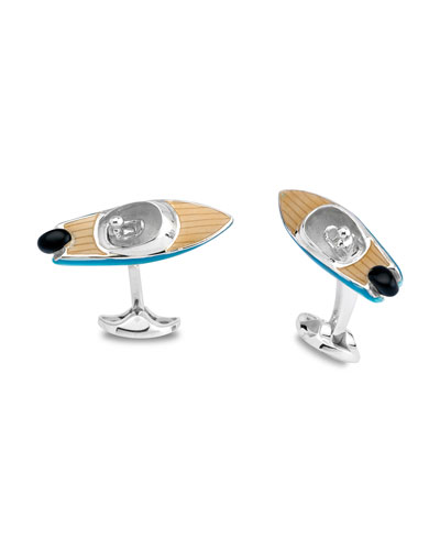 Speedboat Sterling Silver Cuff Links