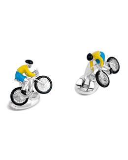 Cyclist Cuff Links