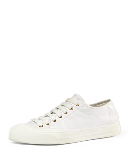 Canvas Low-Top Sneaker, White