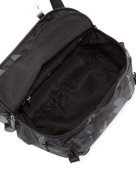 Camo Nylon Medium  Messenger Bag