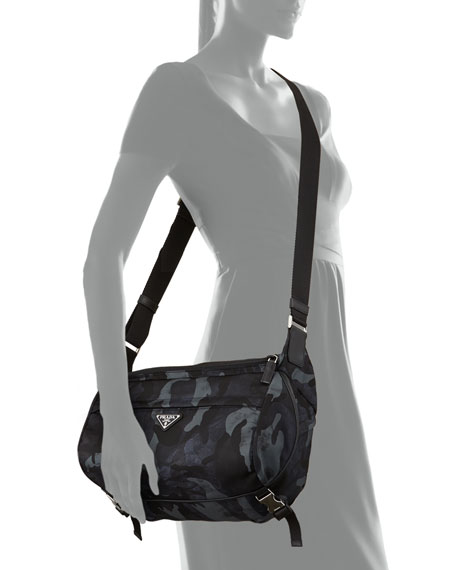 Camo Nylon Medium  Messenger Bag