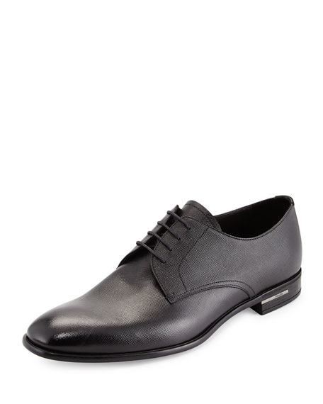 lace-up oxford shoes - Black Prada