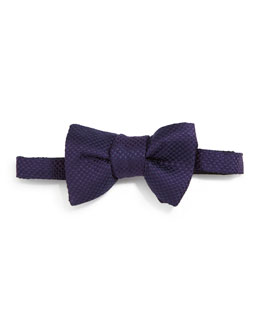 Micro-Check Bow Tie, Purple