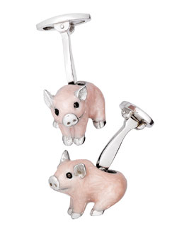 Wilbur The Pig Cuff Links