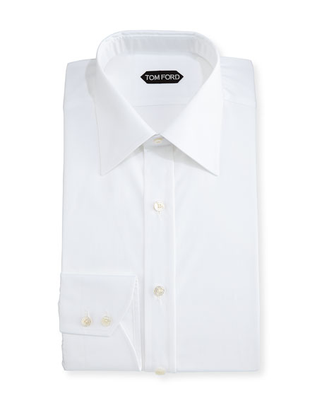 Classic Barrel Cuff Dress Shirt, White