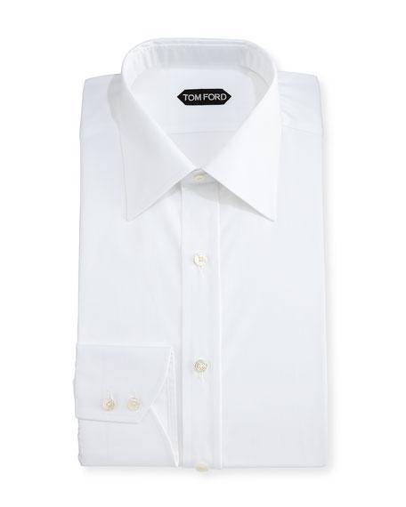 Classic Barrel Cuff Dress Shirt, White