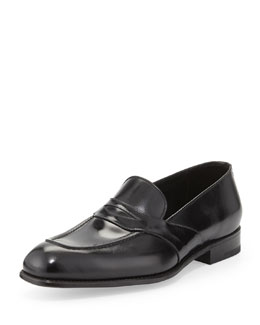 Charles Leather Penny Loafer, Black