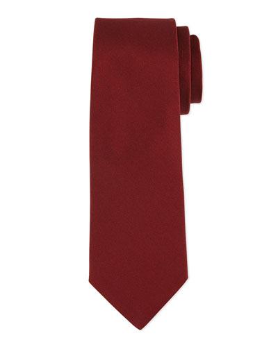 Grosgrain Solid Tie, Burgundy