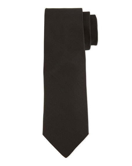 Grosgrain Solid Tie, Black