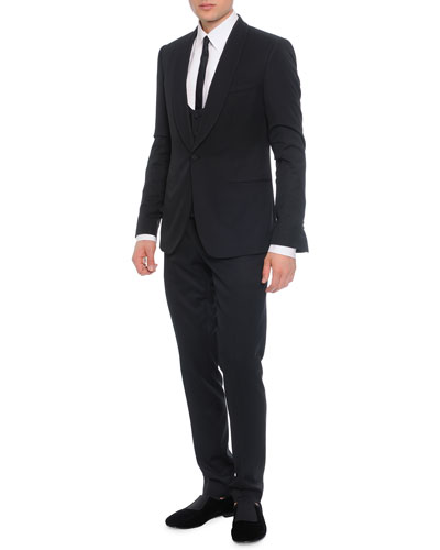 3-Piece Shawl-Collar Suit