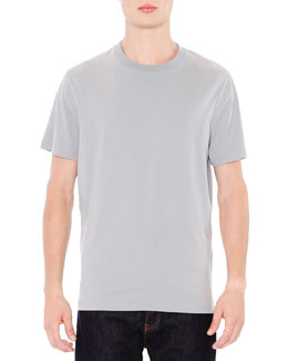 Short-Sleeve Tee with Back Stud, Gray