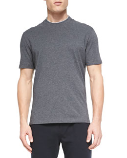 Cotton Crewneck T-Shirt, Medium Gray