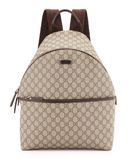 GG Supreme Canvas Backpack, Beige