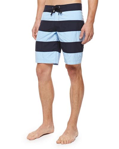 Octant Striped Boardshorts, Blue