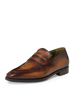 Andy Leather Loafer, Tobacco