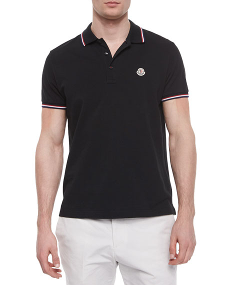 moncler polo shirt navy