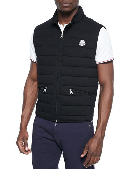 Gerard Lightweight Puffer Vest, Black