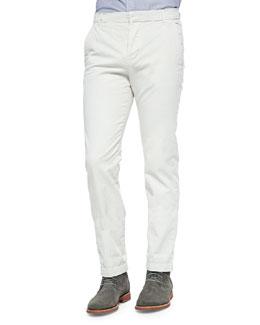 Slim-Fit Woven Chino Pants, Tan