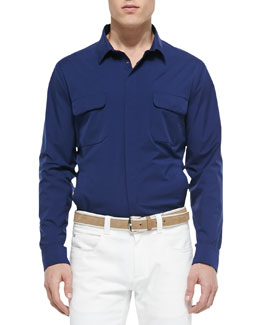 Windstorm Stretch Shirt, Blue