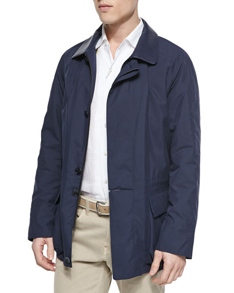 Loro Piana Windstorm Jacket with Cape Back