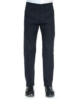 Flat-Front Trouser, Dark Navy