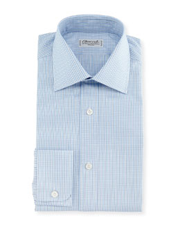 Plaid Dress Shirt, Blue