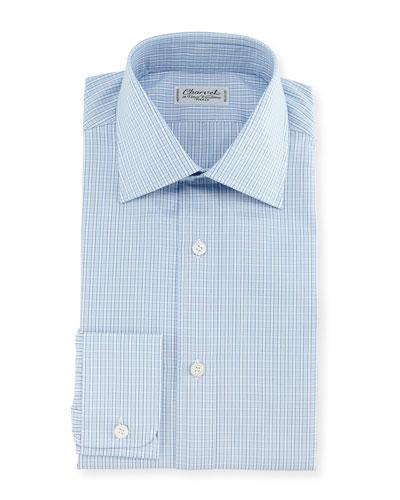 Plaid Dress Shirt, Blue