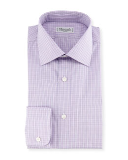Madras Plaid Dress Shirt, Pink/Blue